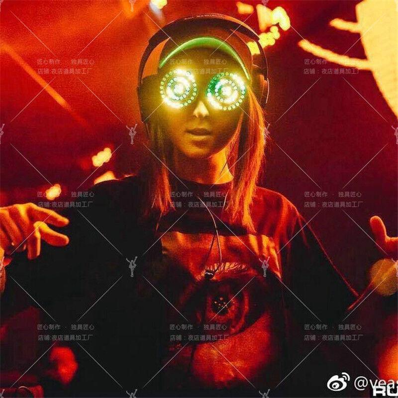 Original REZZ DJ LED Light Glasses Party Nightclub Music Bar