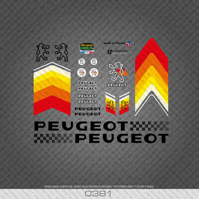 Decals 0602 Peugeot Bicycle Frame Stickers Transfers