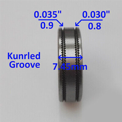 Mig Welder Wire Feed Drive Roller Roll Parts 0.8-0.9 Kunrled-groove .030-.035