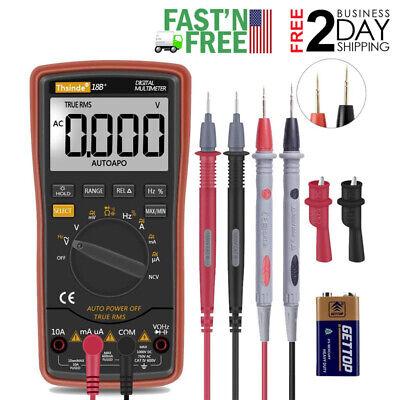 Digital Multimeter Meter Voltmeter Amp Ohm Multi Volt Tester Lead Ac Dc
