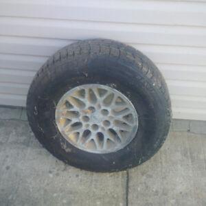 michelin x ice winter tires on rims 5x114.3 jeep rims 235/75/15