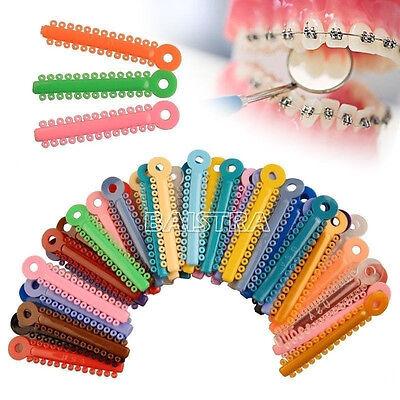 Azdent Dental Orthodontic Ligature Ties Multi Colored 1014 Pcs Pack Bravo