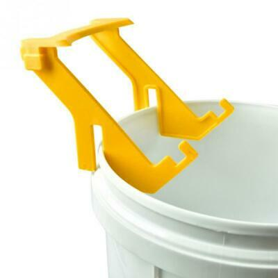 Bee Honey Bucket Rack Holder Easy Pour Plastic Grip Beekeeping Tool Equipment Cb