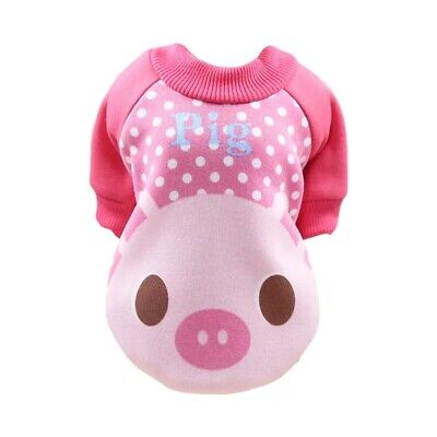 DOG JUMPER HOODY CHIHUAHUA YORKIE PUPPY TOY X TINY TEACUP pink pig...