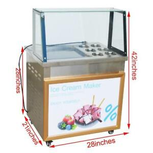 Fried Ice Cream Machine for Fruit,Ice,Milk,Yogurt One Pan with six buckets Ice Cream Roll Maker 220358