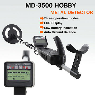 MD-3500 Underground Metal Detector w/WaterProof Search Coil Treasure Gold Hunter