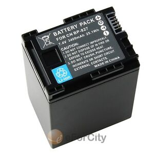 DECODED BATTERY FOR CANON BP-827 Vixia HF10 HF100 HF11