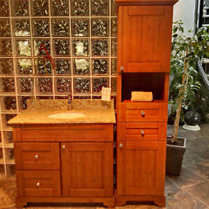 BEAUTIFUL SOLID WOOD CABINETS, VANITIES ON SALE UP TO 80% OFF! Kitchener / Waterloo Kitchener Area image 3
