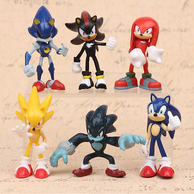 Sega Sonic The Hedgehog Action Figure 6Pc Collection Pvc Toy Kid Christmas Gift