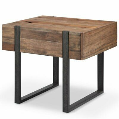 Magnussen Prescott Modern End Table in Rustic - Magnussen Modern Table