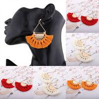 Vintage Thread Tassel Fringe Earrings Pearl Women Drop Dangle Earrings Jewelry - unbranded - ebay.co.uk