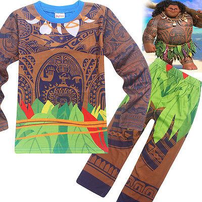 Cool Kids Boys Moana Maui Tattoo Cosplay Clothing Halloween Party Costumes