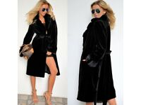 Black Long Hooded Jacket