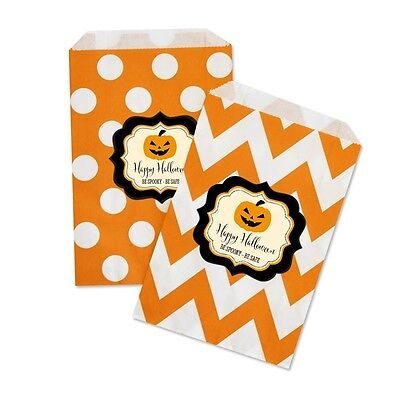 Classic Halloween PERSONALIZED Halloween Party Favor Goodie Bags - lot of 36