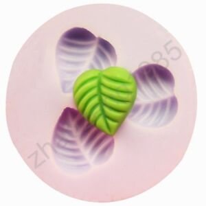 Mini-Leaf-3-Cavities-Flexible-Silicone-Leaves-Mould-Mold-For-Resin-Polymer-Clay