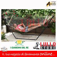 Amaca A Rete Singola - Doppia Per Giardino Con Asse Legno Cm 150x200 Max 200 Kg -  - ebay.it