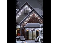 300 Ice White LED Multi-Function Icicle Lights