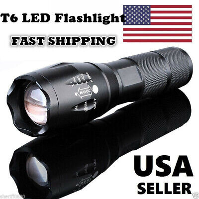 Police 950000Lumens Led Military Flashlight Zoomable Powerful T6 LED Torch Light