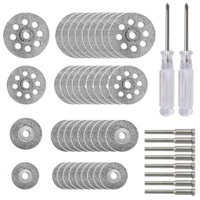 40x Diamond Cutting Wheel Set Mini Drill Dremel Rotary Tool