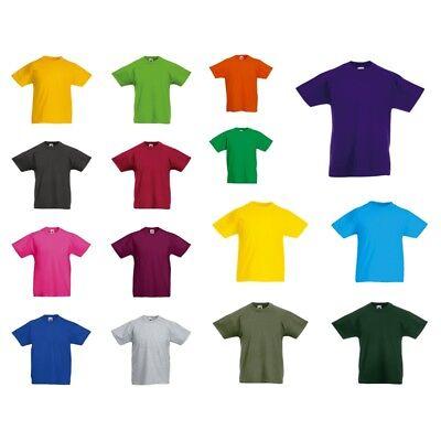 Fruit of the Loom: Kinder T-Shirt Baumwolle 21 Farben Original Tee 61-019-0 New
