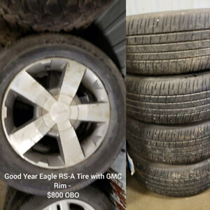 TIRES AND RIMS FOR SALE - SEE PHOTOS OR JAMES USED FOR DETAILS