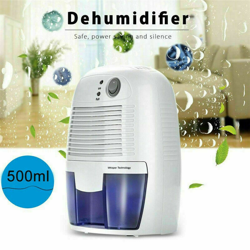 Electric 500ml Home Air Dehumidifier Quiet Moisture Absorber