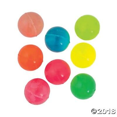 18 Neon Color Bounce High Bouncing Balls Birthday Party Favors Toys Gifts