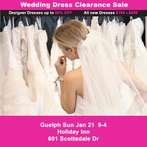 WEDDING DRESS CLEARANCE SALE BRIDAL SHOW! $199-$899 SIZES 2-28W