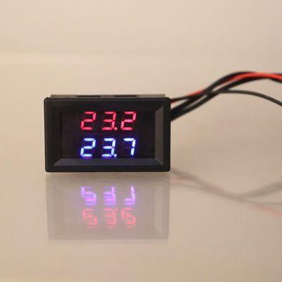 Dual Display Digital Thermometer Redblue Temperature Sensor Tester Ntc Probe