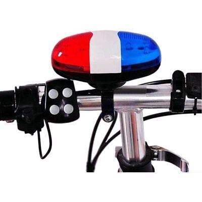 Bicycle Bell 6 LED 4 Tono de bocina Luz LED sirena electronica...