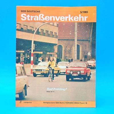 Der Deutsche Straßenverkehr 5/1983 Wartburg Schmalkalden Erfurt Nissan Cherry G