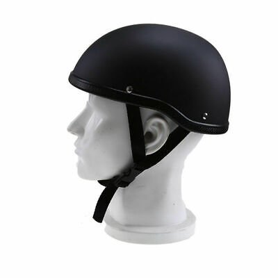 MotorbikeRiding Half Helmet ATV Open Face Cap Hat Headwear Soft Matte Black US