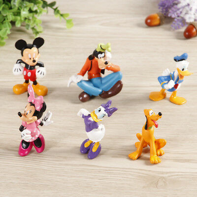 1 Set of 6 Disney Family Mickey Minnie Donald Daisy Goofy Pluto Figures Toy Gift