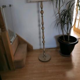 Floor lamp antique marbled stone