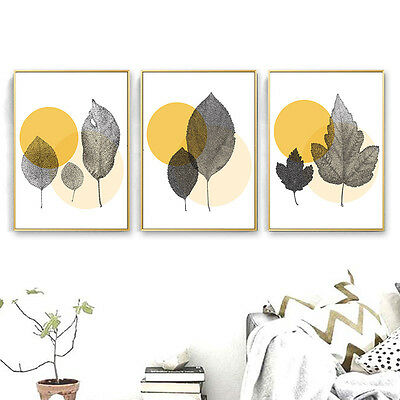 Abstract Leaves Nordic Decoration Canvas Poster Wall Art Print Modern Home Decor