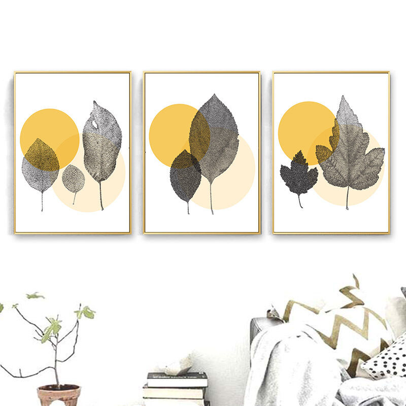 Abstract Leaves Nordic Decoration Canvas Poster Wall Art Pri