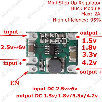 Mini Dc-dc Buck Step-down Converter Power Supply Module 1.5v 1.8v 3.3v 4.2v 2a