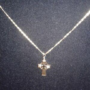 vintage chain with Celtic cross pendant