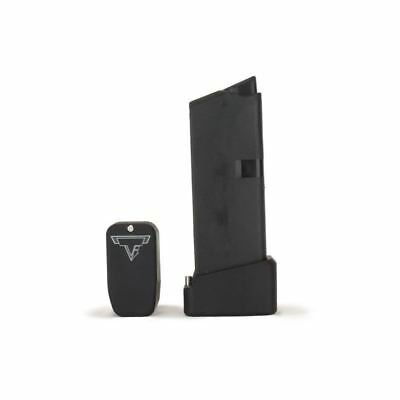 NEW Taran Tactical Glock 43 +2 Base Pad CCW GEN 2 Flat Black TTI Factory Dealer