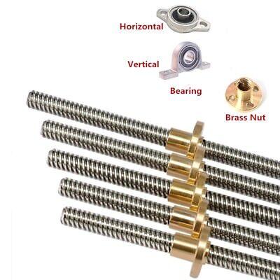 12mm T12x12 L600-1000mm Lead Screw Trapezoidal Rod Picth 2mm Lead 12mm Nut