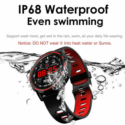 Bluetooth Smart Watch ECG PPG Heart Rate Blood Pressure Monitor Sport Bracelet