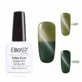 Nail Polish Elite99 79026 Cats Eye Thermal Colour Changing UV LED