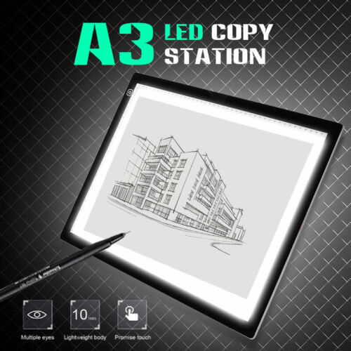 """A3 21"""" Screen LED Drawing Light Box Art Craft Tracing Pad Painting Board Station"""