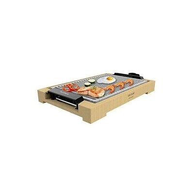 Cecotec Plancha de asar eléctrica Tasty&Grill 2000 Bamboo LineStone. Potenci
