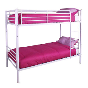 Nice white metal bunk beds ..futons..dressers..hudeabed ect