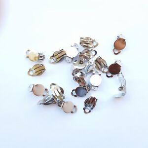 Clip On Earring Finding Earring Blanks Backs Dull Silver Finish 10prs / 20pcs