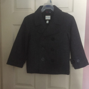 Children's Place grey pea coat - S (5-6)