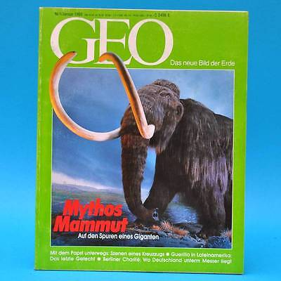 GEO Magazin 1/1993 Charite Kolumbien Eisplastik Mammuts Papst-Reise