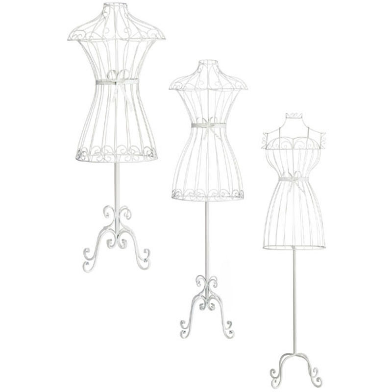 details about mannequin clothes body stand cream wire bedroom retail  display in 3 size's
