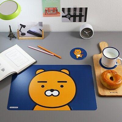 Kakao Friends Official Goods Ryan 2pcs Table Mats + 2pcs Cup Coasters Set Home